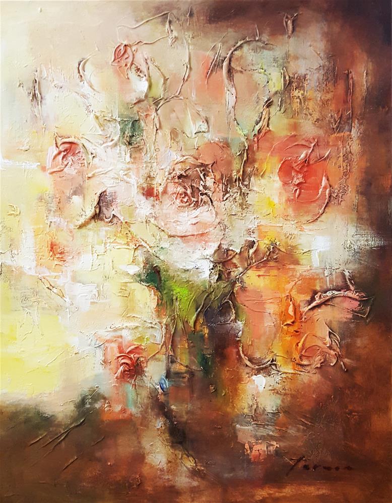 """Flowers in the sunshine"" original fine art by Teresa Yoo"