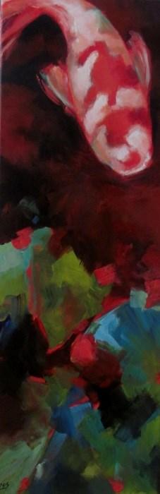"""Koi Pond With Leaf Litter"" original fine art by ~ces~ Christine E. S. Code"