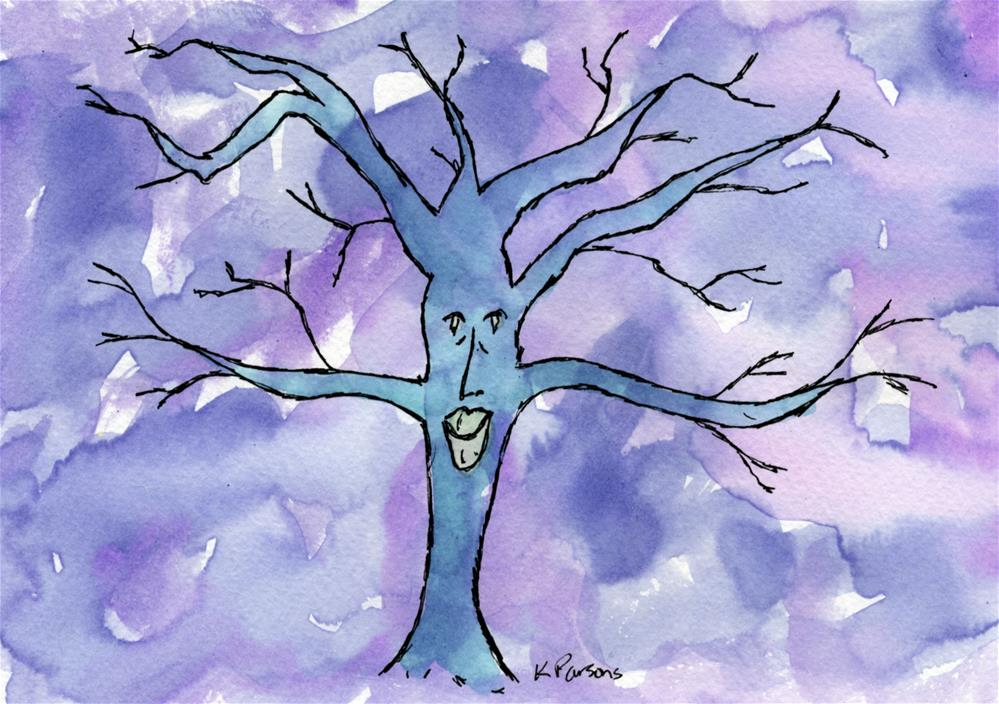 """Happy Tree"" original fine art by Kali Parsons"