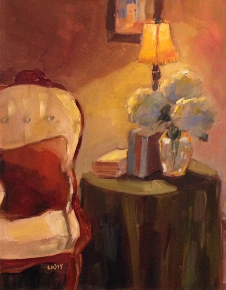 """Lamp Light"" original fine art by Libby Anderson"