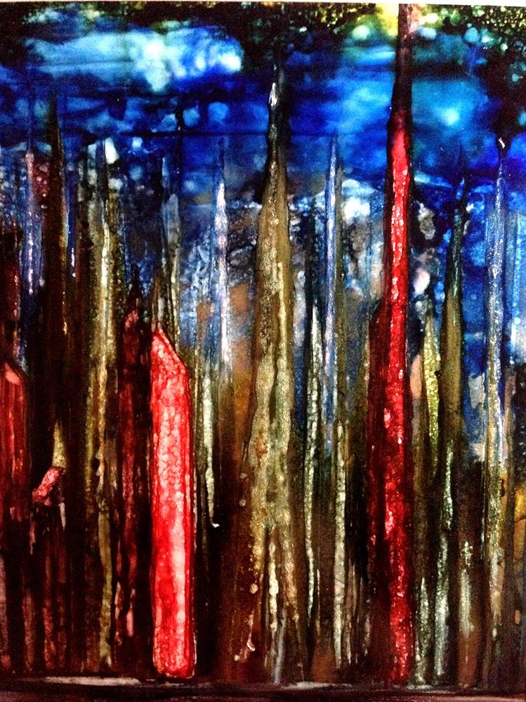 """Alcohol Ink Art.  City Life."" original fine art by Korinne Carpino"