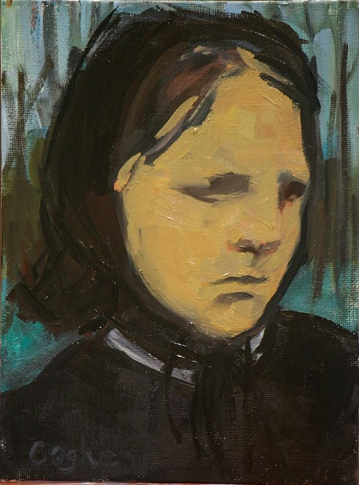 """After Degas: Portrait of Estelle"" original fine art by Angela Ooghe"