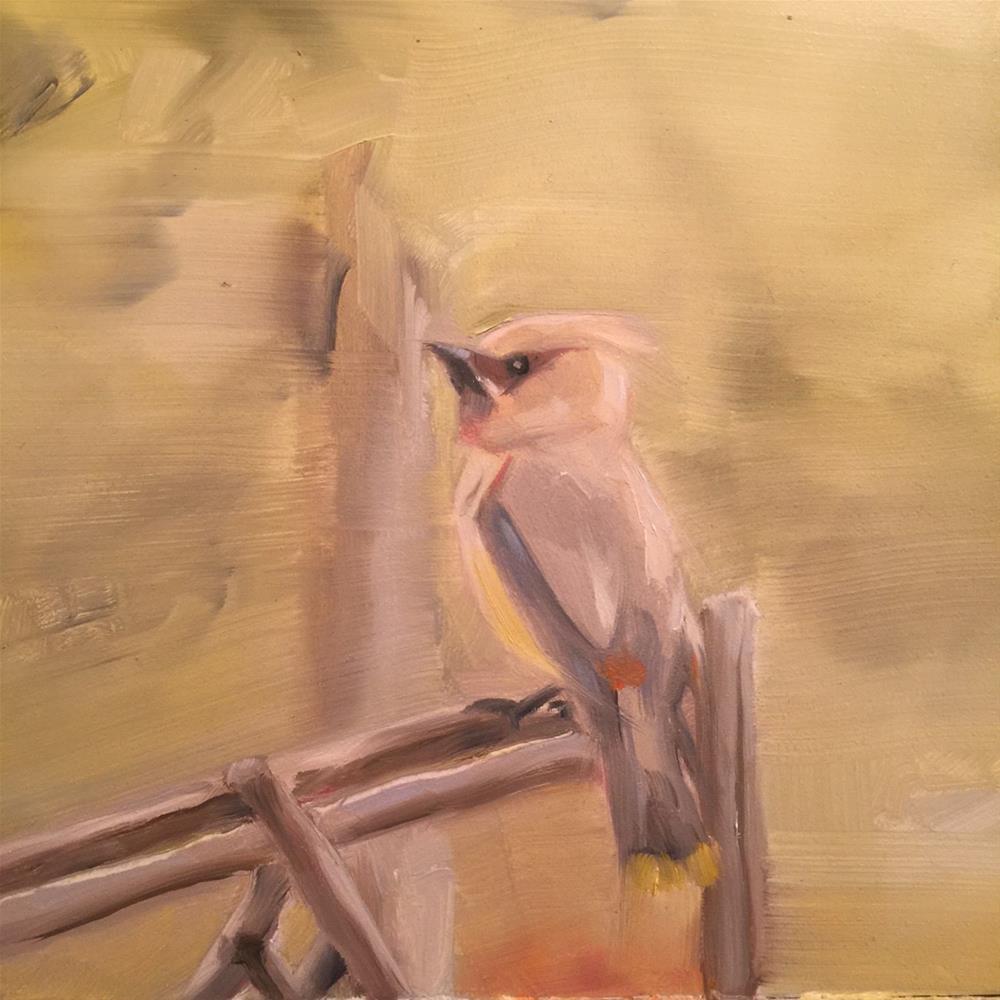 """386 Birdy"" original fine art by Jenny Doh"
