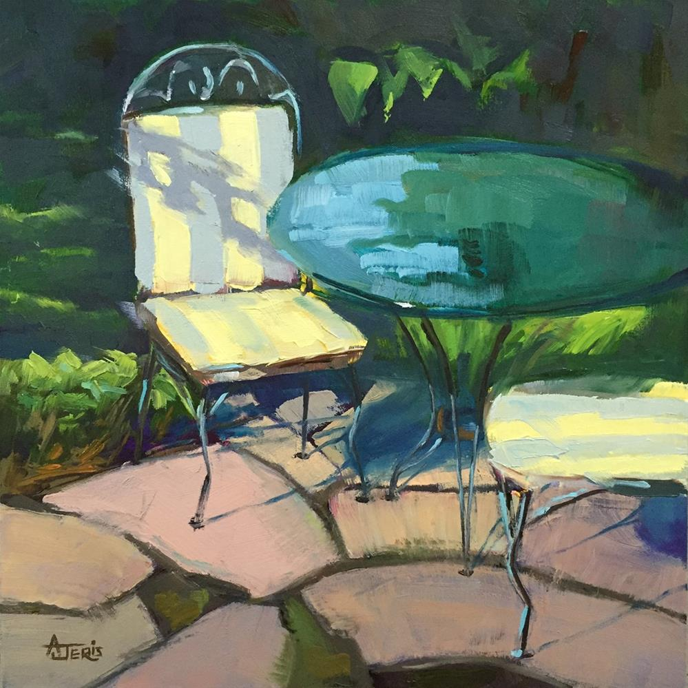 """Garden Seating"" original fine art by Andrea Jeris"