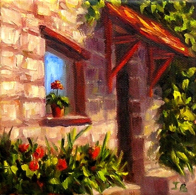 """Red Flower"" original fine art by Irina Beskina"