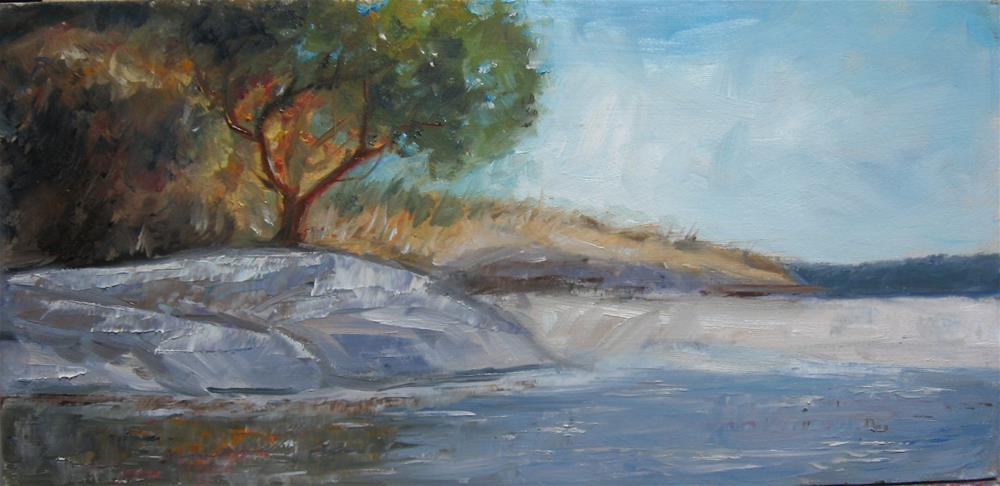 """6 x 12 inch Arbutus tree in oil"" original fine art by Linda Yurgensen"