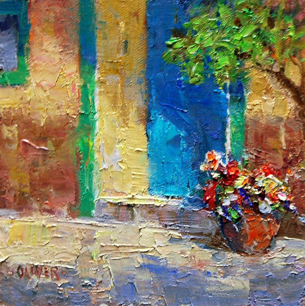 """Door in Mexico - Guadalajara"" original fine art by Julie Ford Oliver"