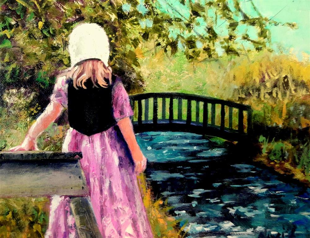 """The Bridge Builders Daughter"" original fine art by David Larson Evans"