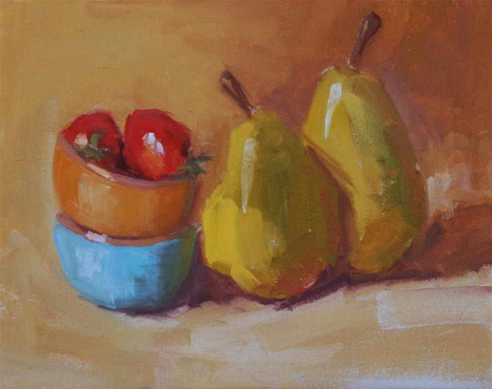 """""""putting two and two and two together"""" original fine art by Carol Carmichael"""