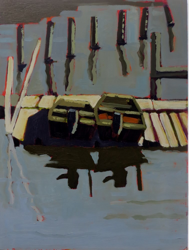 """Hope Springs Marina"" original fine art by Joan Wiberg"
