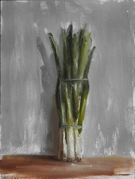 """Spring Onions"" original fine art by Neil Carroll"
