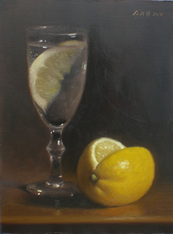 """Lemon Water"" original fine art by Debra Becks Cooper"