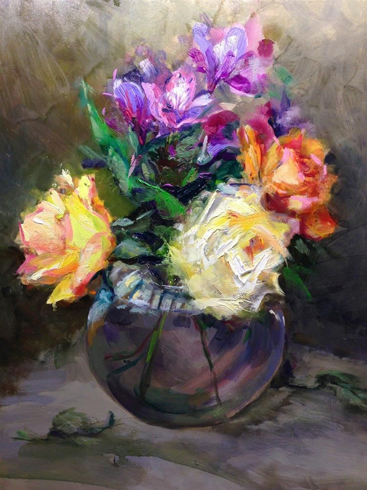 """Roses of Scottsdale"" original fine art by Linda Dunbar"