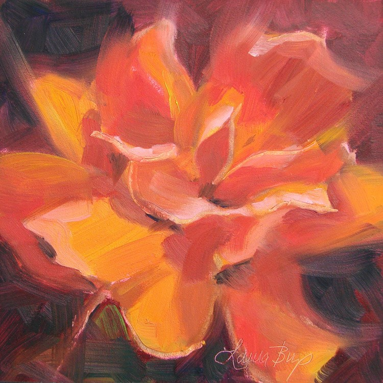 """Beautiful Rose - 410"" original fine art by Laura  Buxo"