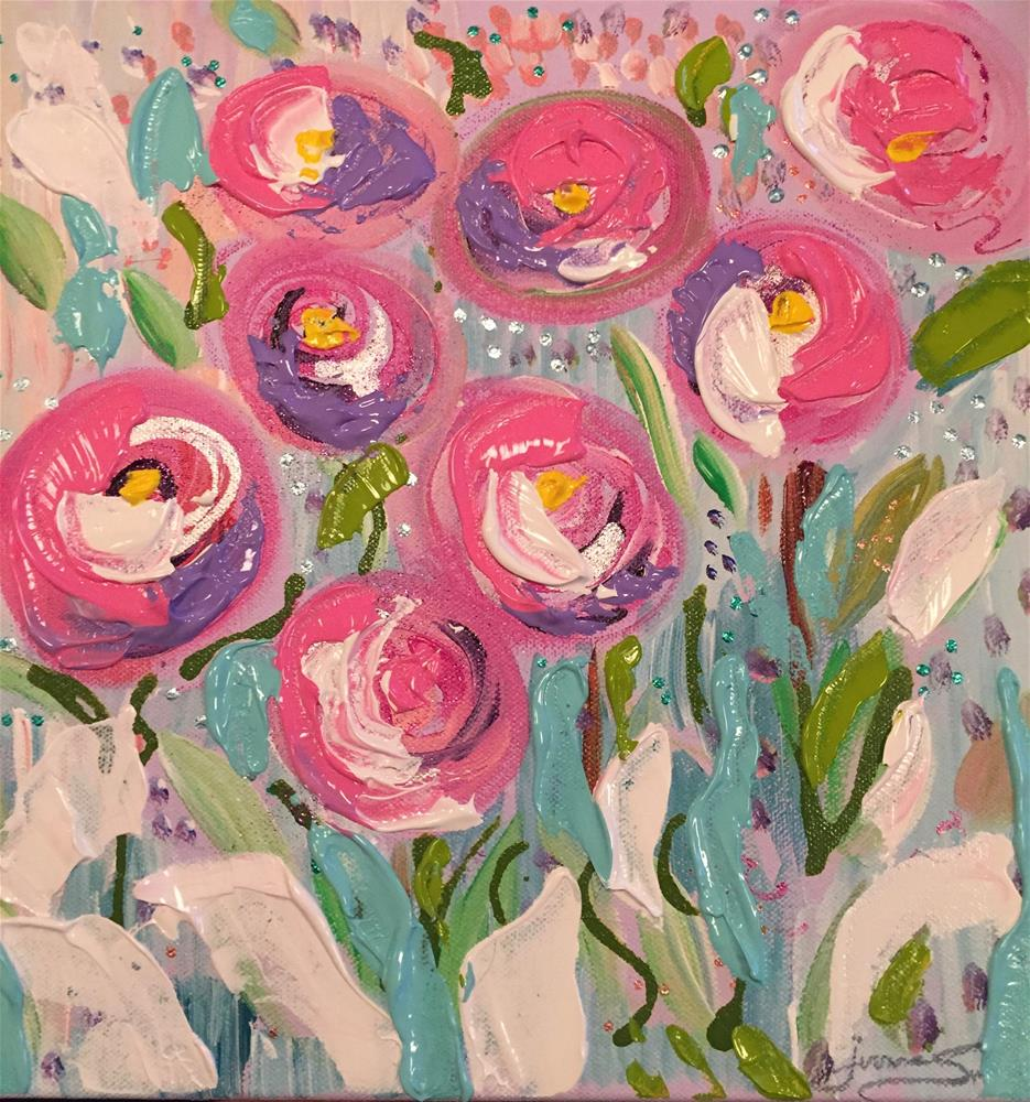 """Pop of Posies "" original fine art by Yvonne Snead"