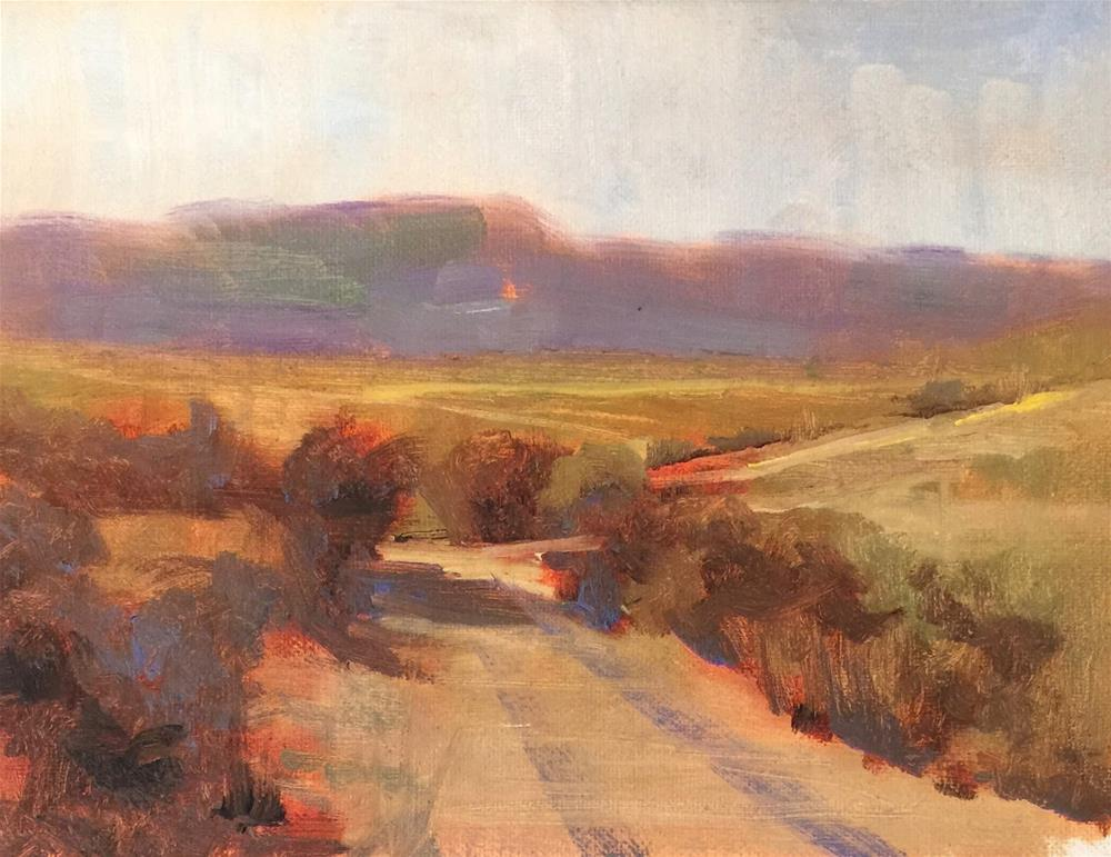 """The Road to Somewhere, 10x8"" original fine art by Ann Feldman"