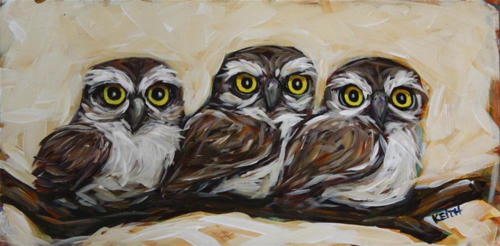 """Three's Company"" original fine art by Kandice Keith"