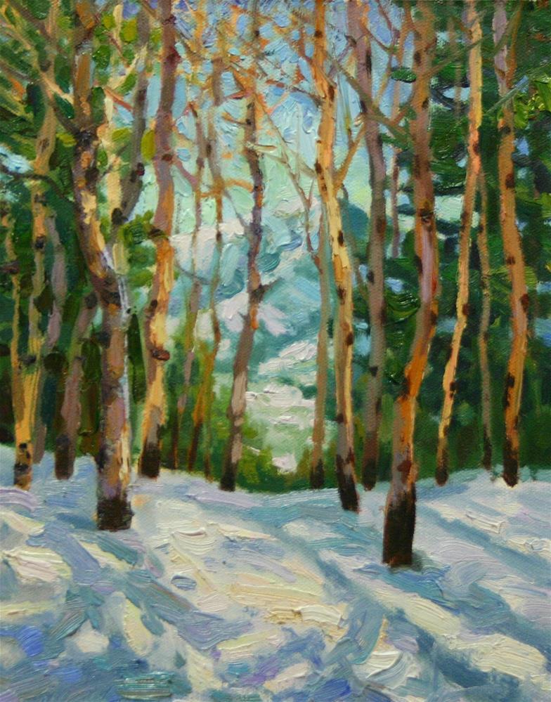 """Warmth of Winter"" original fine art by K.R. McCain"