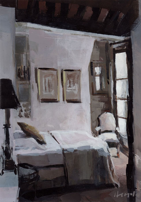 """Paris Bedroom"" original fine art by David Lloyd"