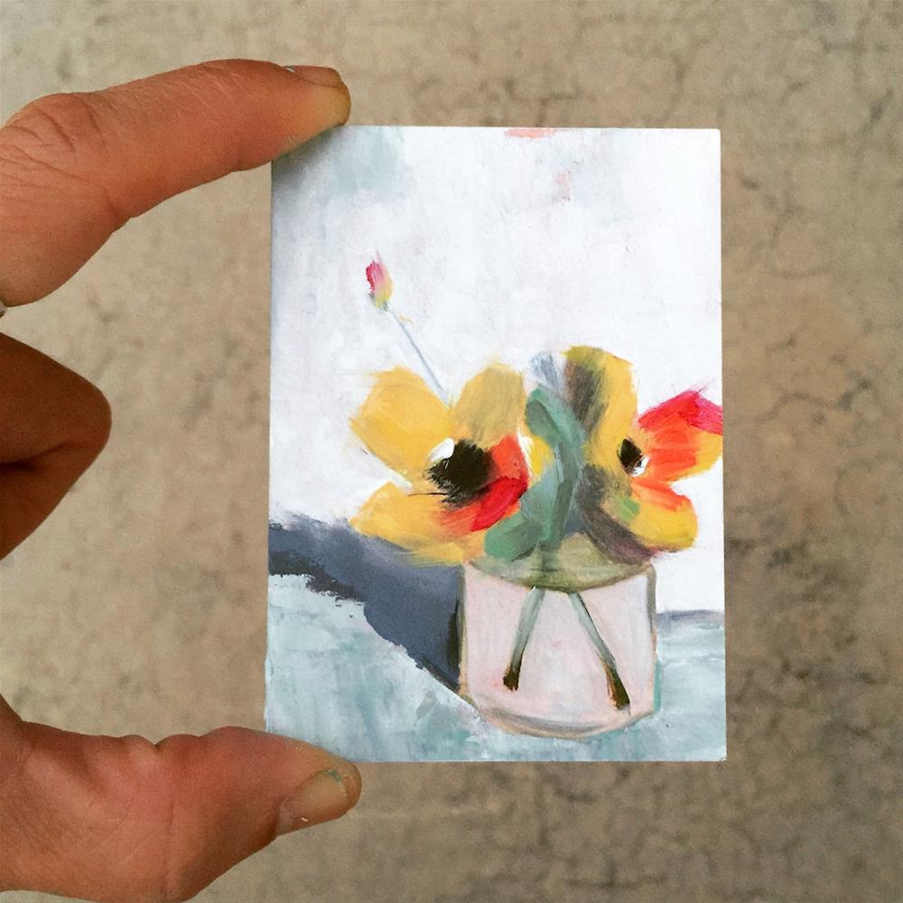 """34 Miniature Yellows"" original fine art by Jenny Doh"