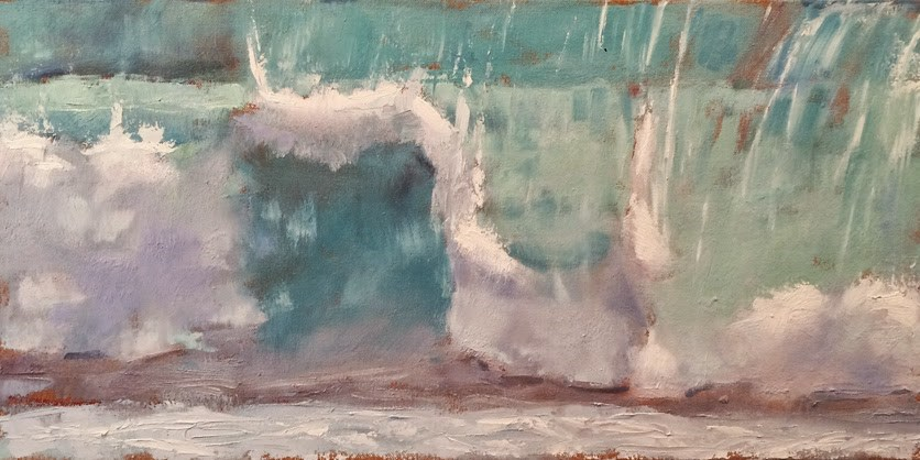 """New Wave Breaking"" original fine art by Deborah Newman"