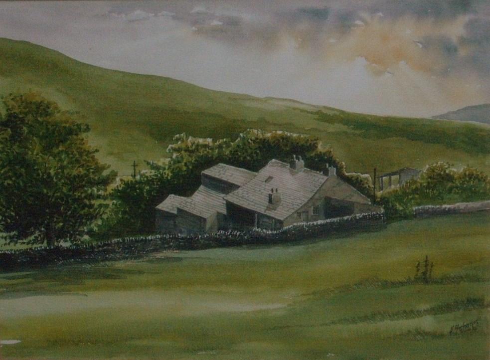 """Barns near Burnsall"" original fine art by Martin Stephenson"