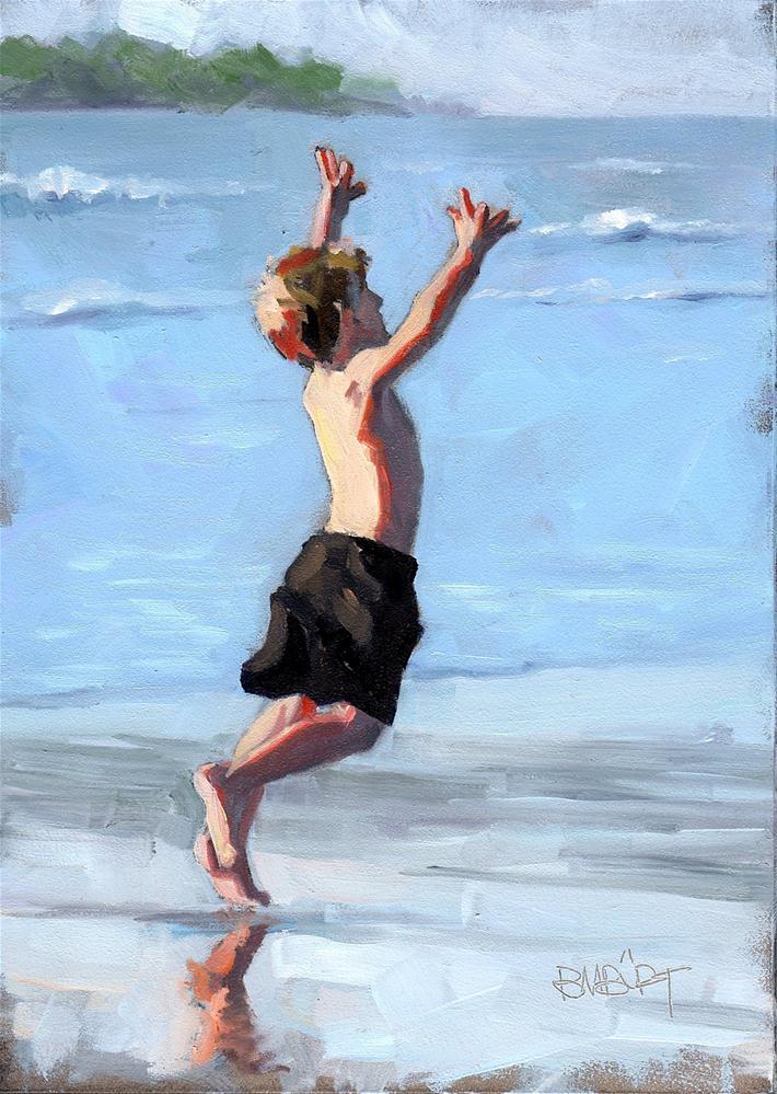 """#308 Jump!"" original fine art by Brian Burt"