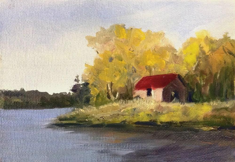 """""""Lost Channel"""" original fine art by Cathy Boyd"""