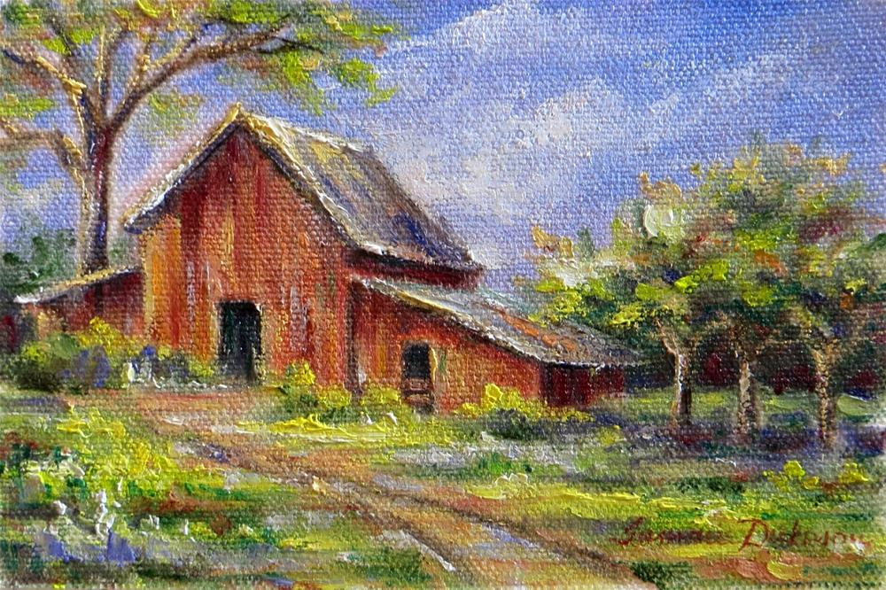"""Barn in Spring"" original fine art by Tammie Dickerson"