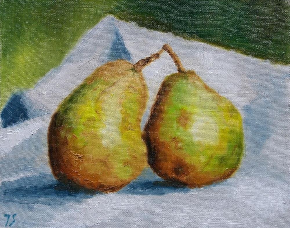 """""""2 pears"""" original fine art by Yuriy Semyonov"""