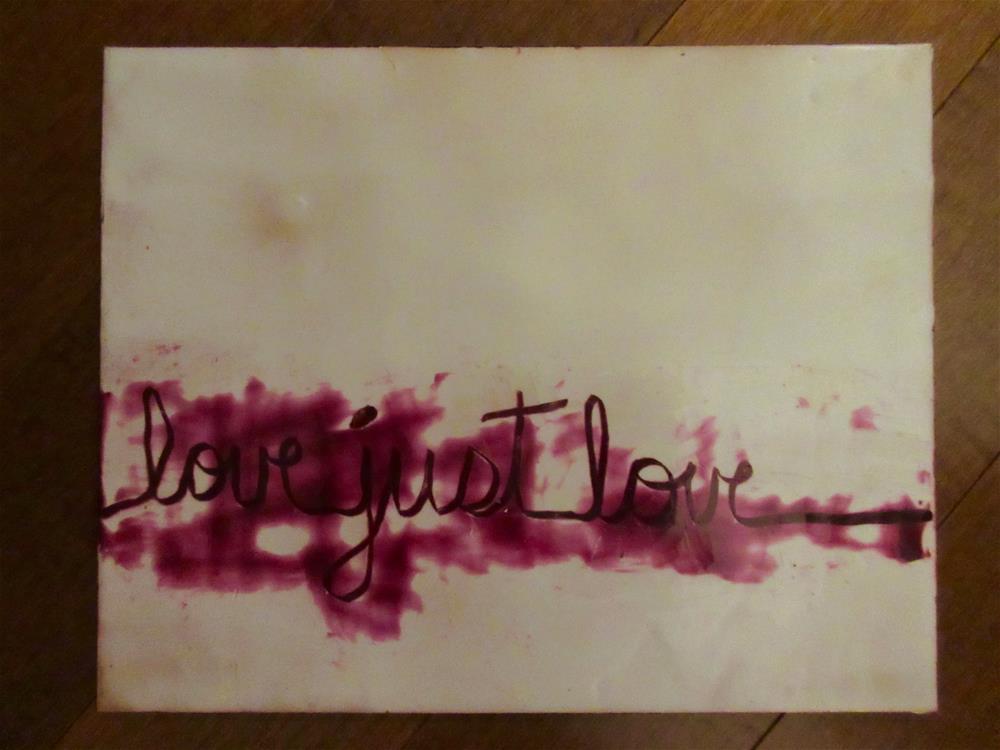 """""""Love Just Love"""" original fine art by kelly m jenkins"""