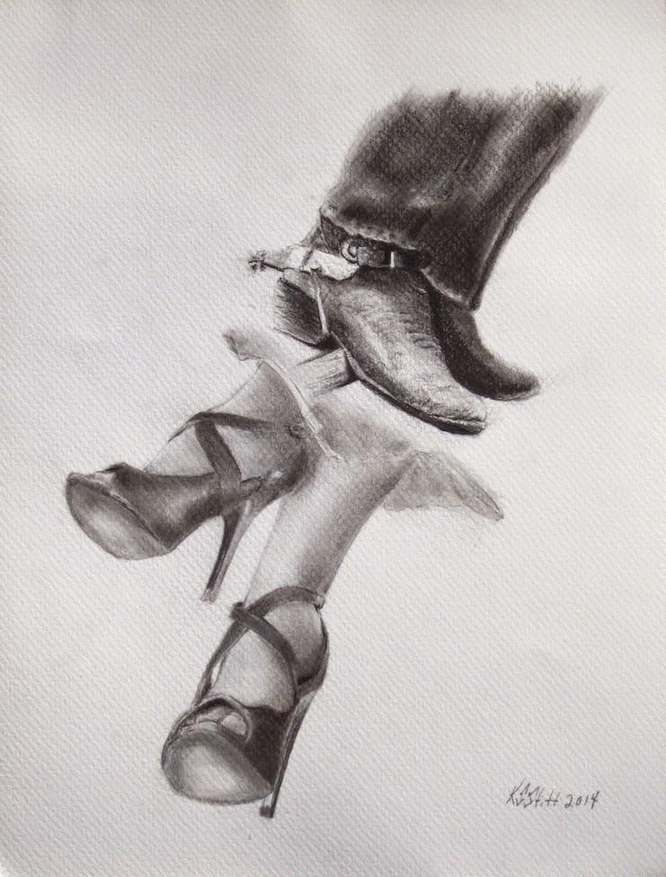 """""""Rough and Ready"""" original fine art by Karen Stitt"""