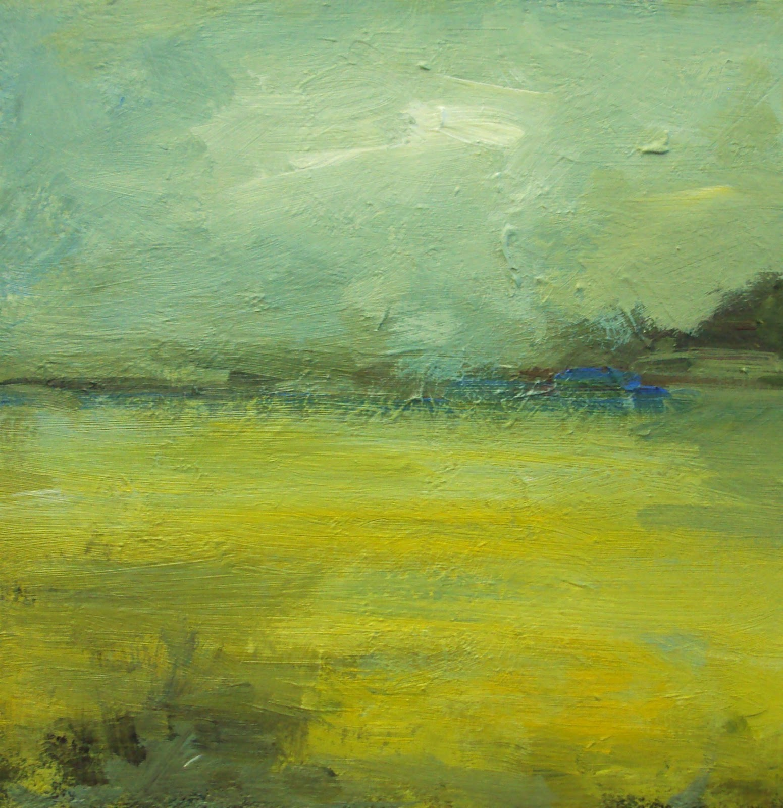 """yellow fields"" original fine art by Parastoo Ganjei"