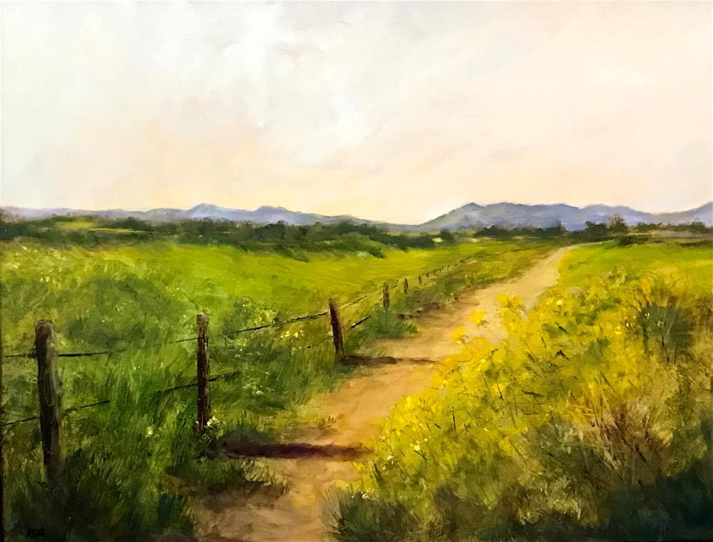 """path in the sunny pasture"" original fine art by Betty Argiros"
