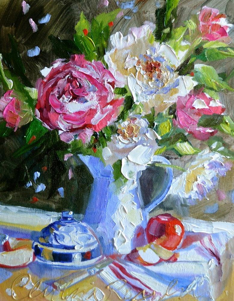 """SASKATCHEWAN  ROSES"" original fine art by Cecilia Rosslee"