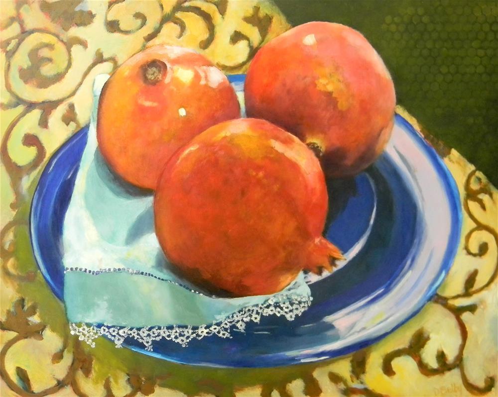 """Pomogranates"" original fine art by De Selby"
