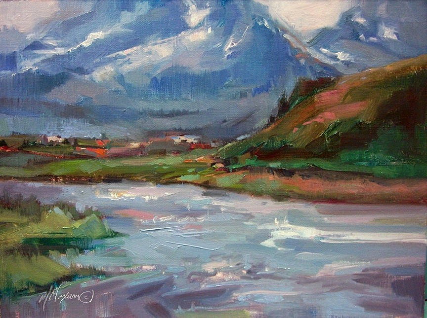 """Toward Challis"" original fine art by Mary Maxam"