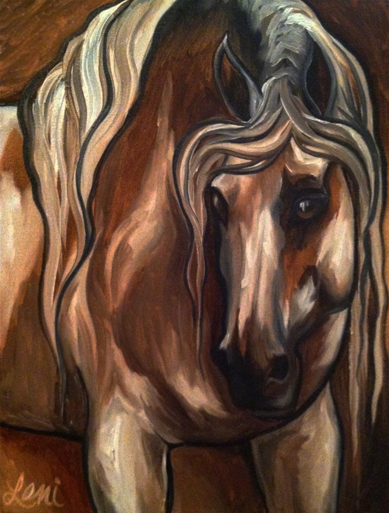 """Beauty in Brown"" original fine art by Leni Tarleton"
