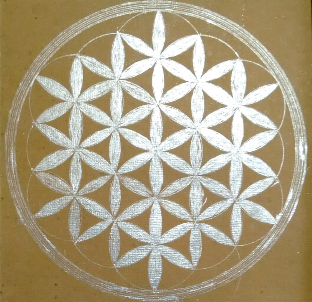 """Flower of Life"" original fine art by Adéla Svobodová"