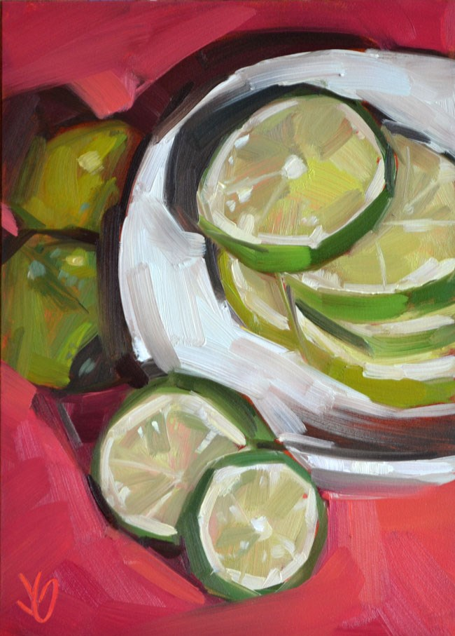 """Lime Stack"" original fine art by Jessica Green"