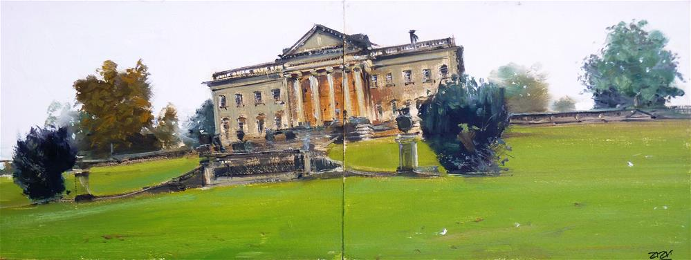"""Prior Park College, Bath"" original fine art by Adebanji Alade"