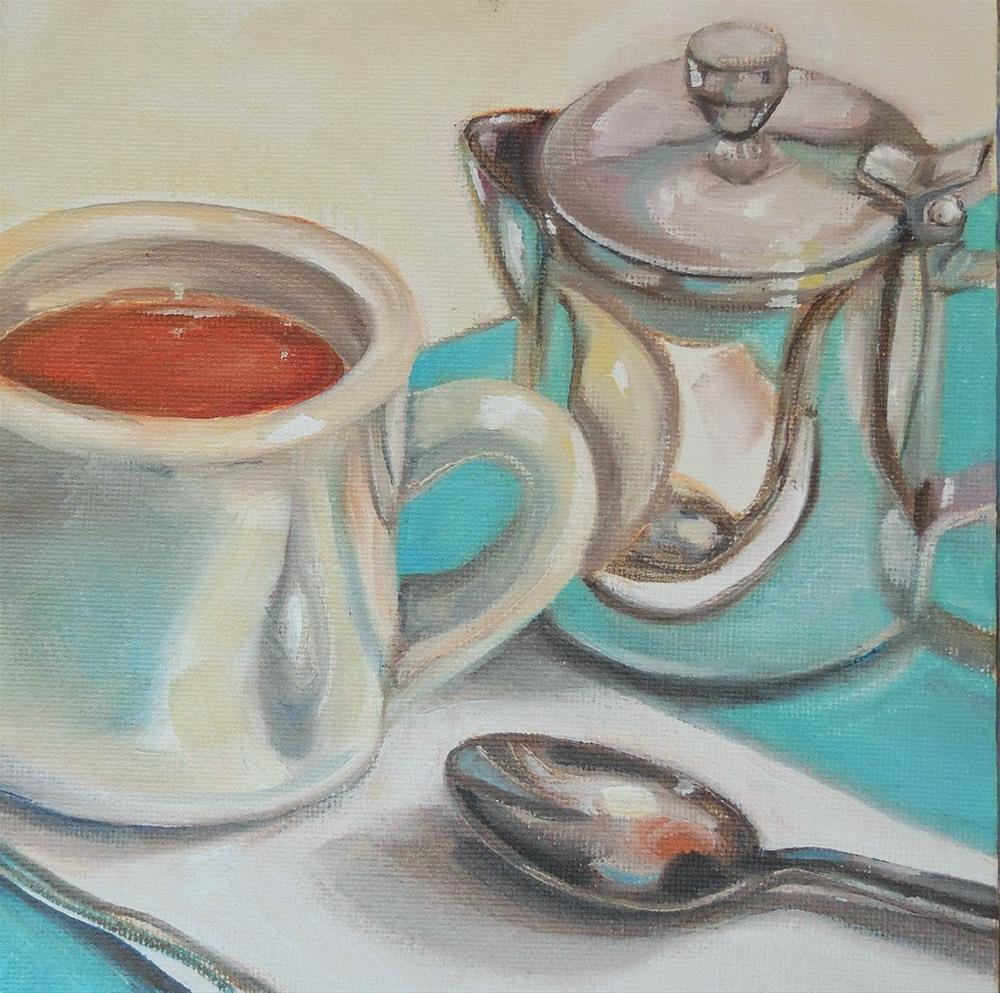 """Just Cream, Please"" original fine art by Beth Moreau"