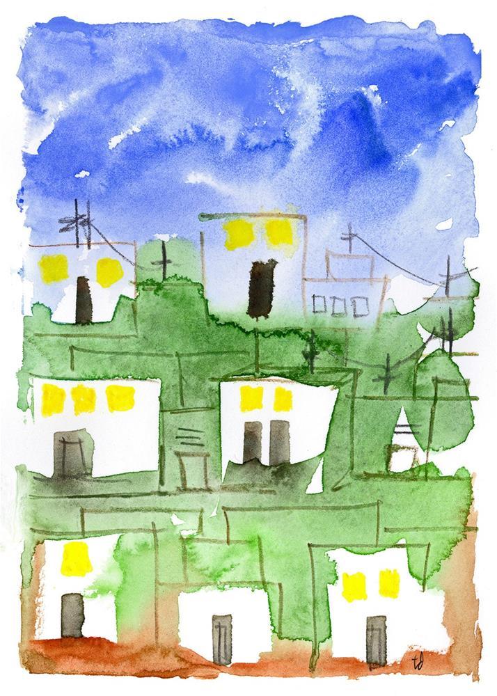 """""""Ciudad 2"""" original fine art by Tonya Doughty"""