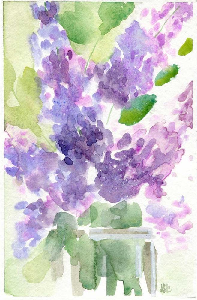 """Lucy's Lilacs"" original fine art by Heather Bennett"