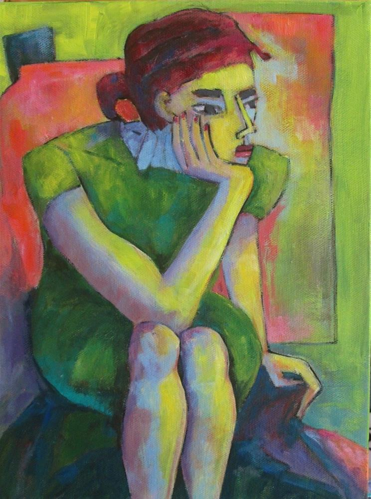 """Thinking About It"" original fine art by Patricia MacDonald"