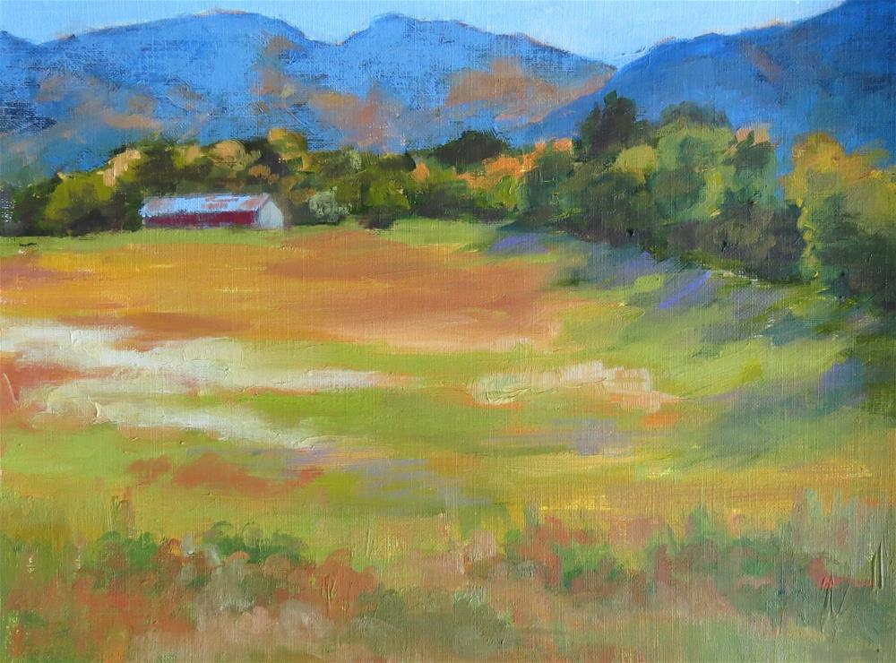 """in The Valley"" original fine art by Pam Holnback"
