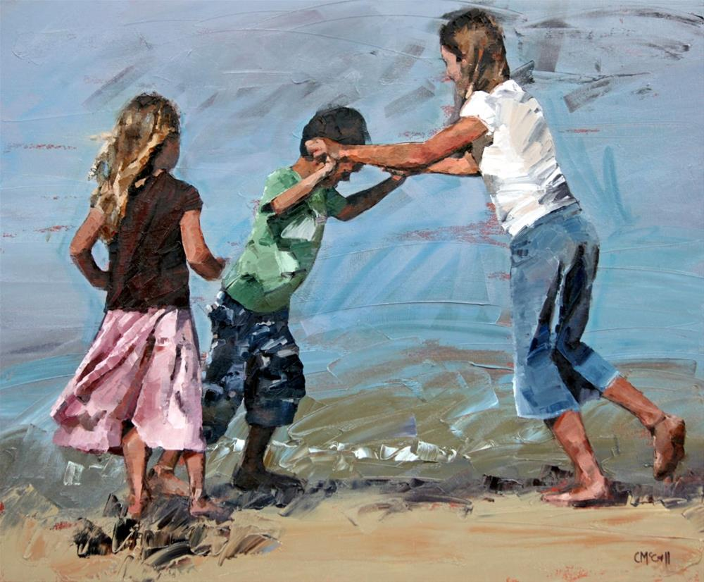 """Playfight"" original fine art by Claire McCall"