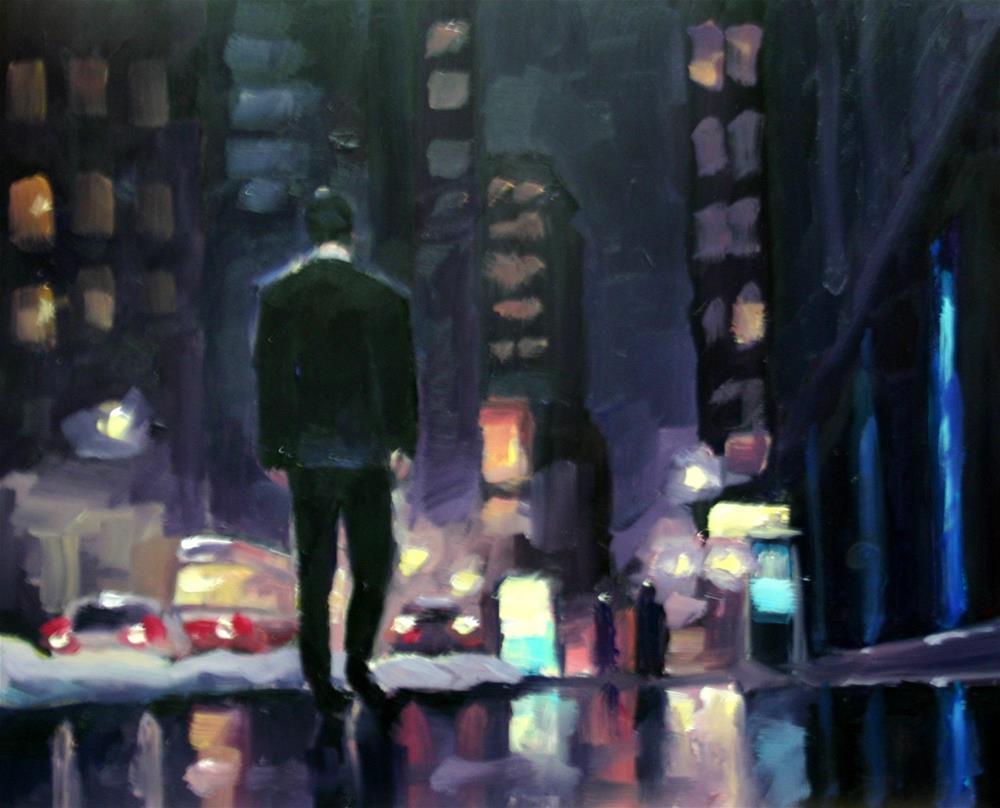 """End Of Day, King Street, Toronto"" original fine art by Catherine Jeffrey"