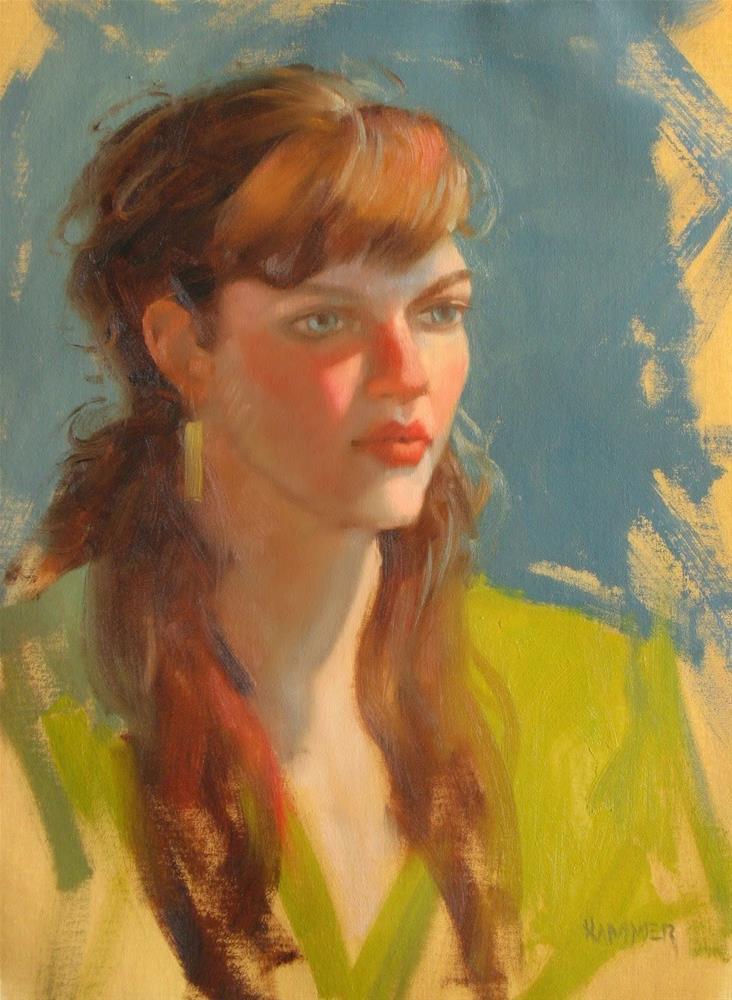 """Anna Roeder 11x14  oil"" original fine art by Claudia Hammer"