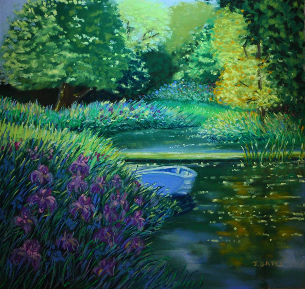 """Purple Iris"" original fine art by Jill Bates"